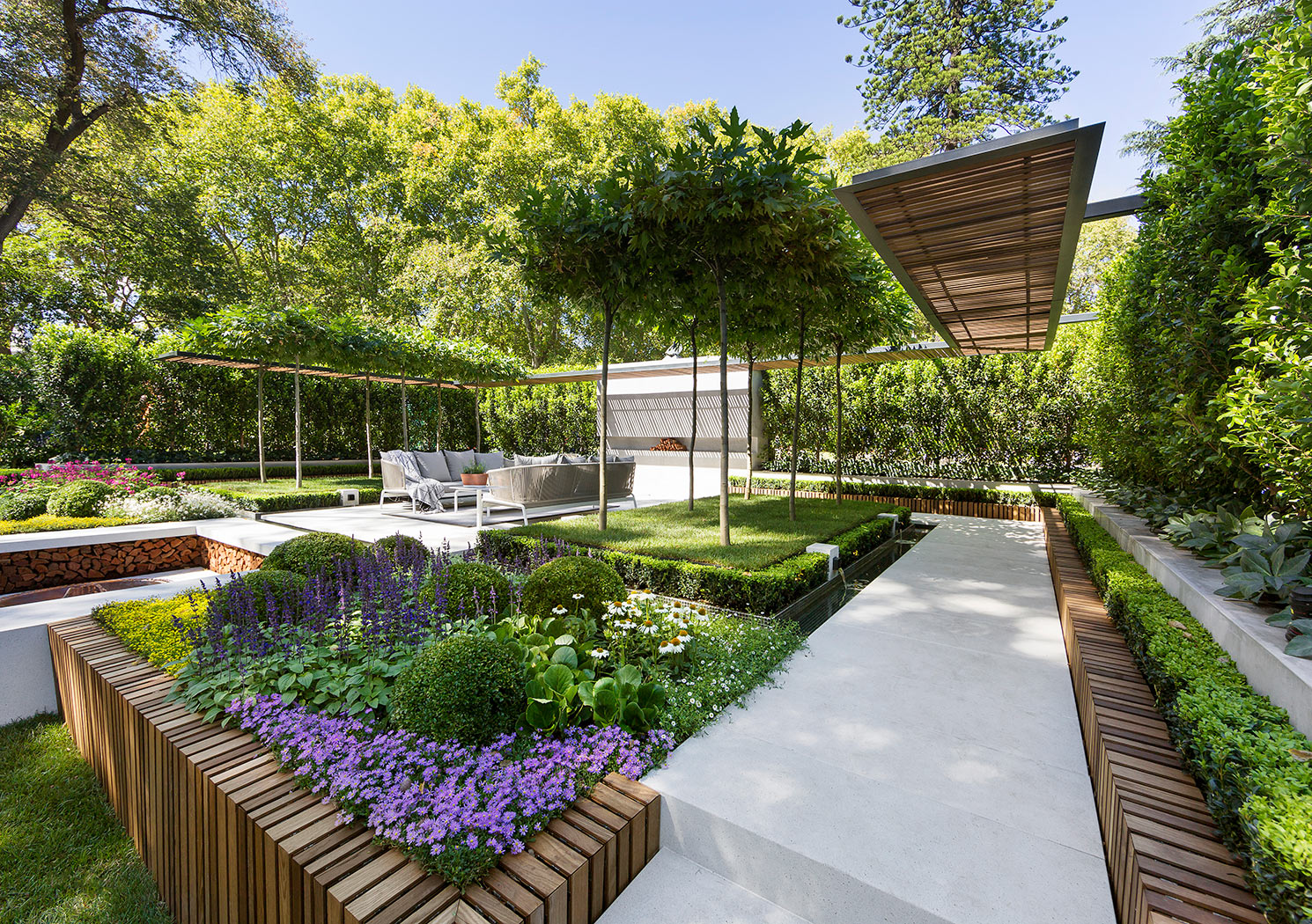 Landscape garden designer melbourne nathan burkett design for Outdoor pictures for gardens